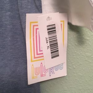 LuLaRoe Dresses - LuLaRoe Julia heather blue baseball sleeve dressXL